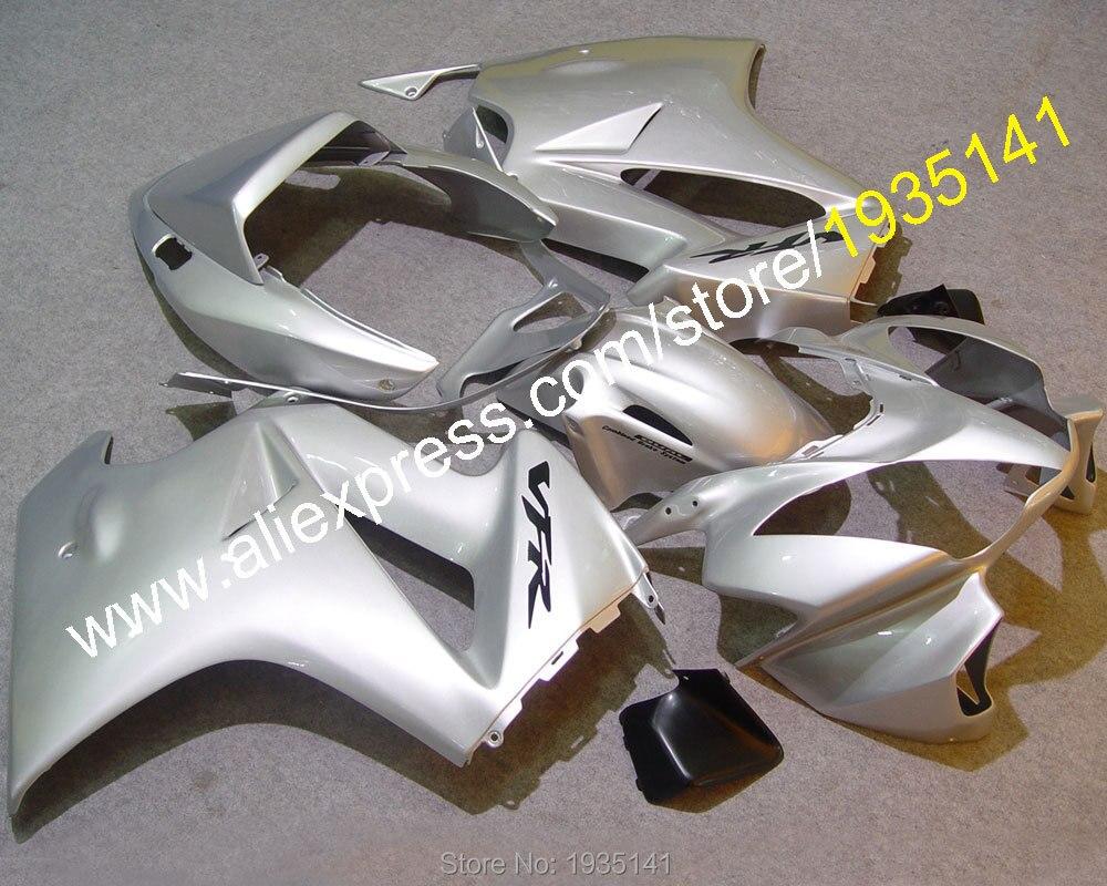Горячие продаж,послепродажного кузова комплект для Honda ПВП 800 VFR800 2002-2012 02-12 серебро черный мотоцикл Зализа (литья под давлением)