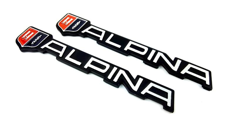 Aluminium alloy For car Emblem Badge alpina Logo car Sticker for F10 F30 X1 X3 X5 M3 M4 318d 525i 520i Car-Styling Accessories защитные аксессуары car pakistan bmw alpina