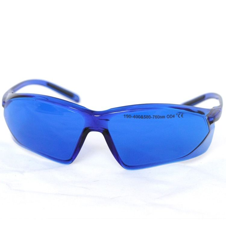 UV Red Laser Protective Glasses Goggles Eyewear 190nm-400nm 580nm-760nm OD4+ CE