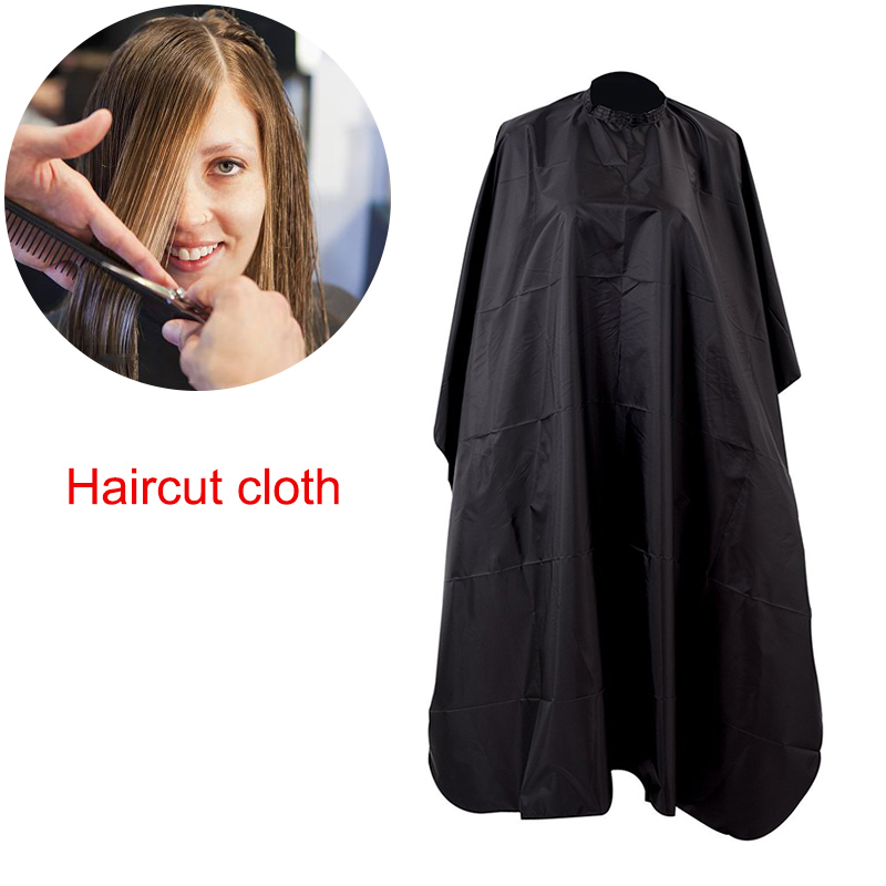 Pro Handmade Black Salon Barbers Cape Gown Hairdressing Hair Cutting Waterproof Gown Cloth Styling Accessories Haircut Cloth