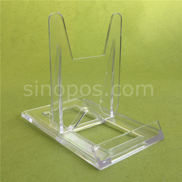 Clear Sliding Display Easels 100x60mm transparent plastic art exhibition adjustable plate stand cell phone & Clear Sliding Display Easels 100x60mm transparent plastic art ...