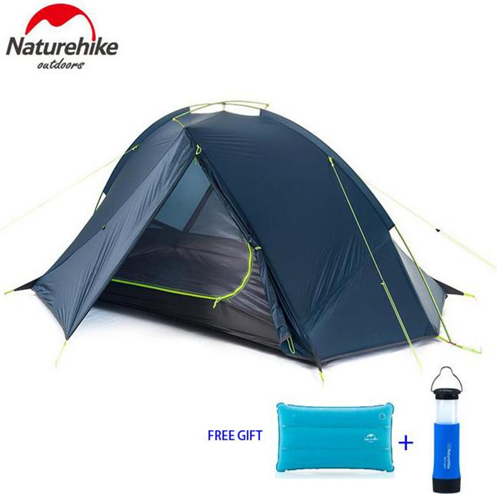 NatureHike Tent 4 seasons Outdoor Portable Double-layer Camping Tents Lightweight Waterproof Outdoor Portable Camping Tent  For high quality outdoor 2 person camping tent double layer aluminum rod ultralight tent with snow skirt oneroad windsnow 2 plus