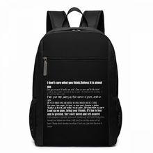 Nirvana Backpack Lyrics Backpacks Multi Pocket Student Bag Mens - Womens High quality Pattern Trending Shopping Bags
