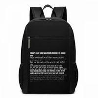 Nirvana Backpack Nirvana Lyrics Backpacks Multi Pocket Student Bag Men's Women's High quality Pattern Trending Shopping Bags