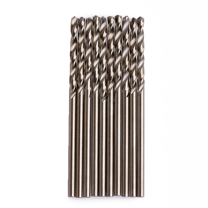 10Pcs/Set 2mm M35 Triangle Shank HSS-Co Cobalt Twist Drill Spiral Drill Bit MAR15_0 free shipping of 1pc hss 6542 made cnc full grinded hss taper shank twist drill bit 11 175mm for steel