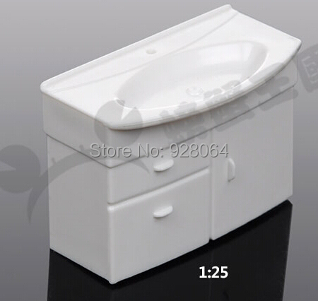 Building Indoor Model Bathroom Decoration Model Bathroom Vanity Sandbox Mold Material Diy