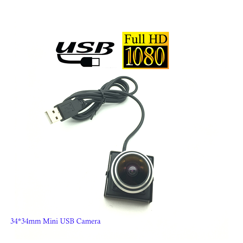 Micro Size Square Shaped 30Fps 2MP 0V2710 Senor HD 1080P 1.78MM Lens Fisheye Mini Camera Usb For ATM and Kiosk Vehicle Car Use fisheye lens micro ccd camera mini car camera
