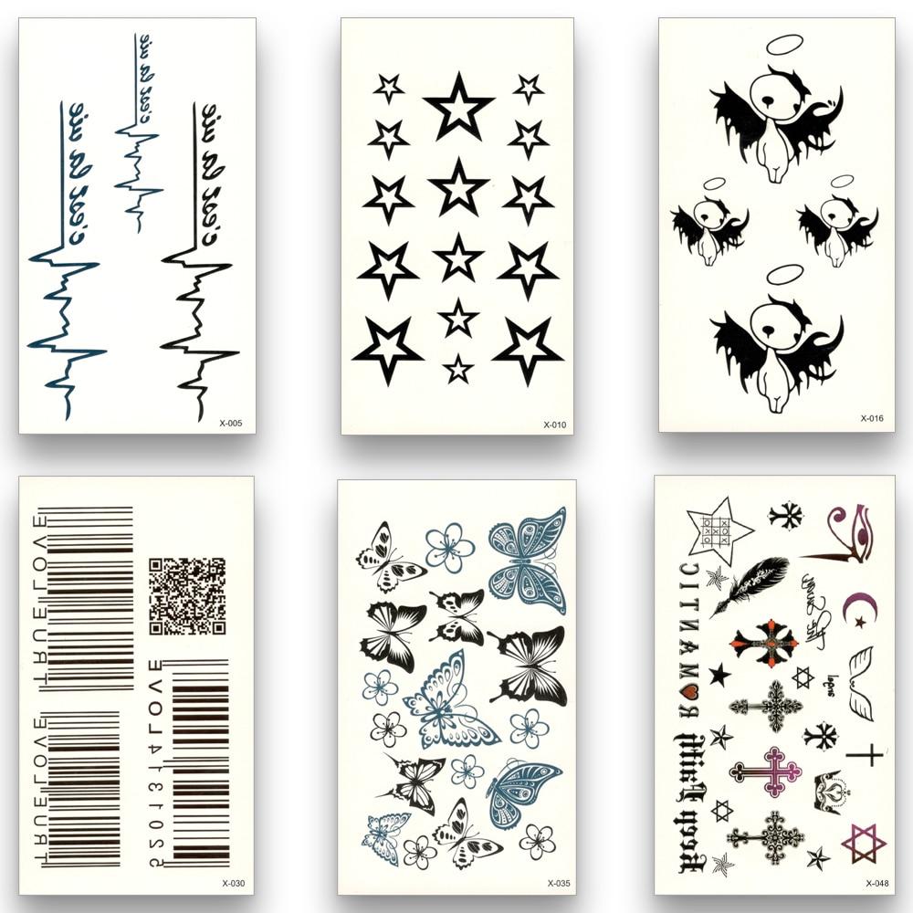 1 Piece Temporary Tattoo Sticker Water Transfer Wing: Aliexpress.com : Buy 12 Sheets Fake Temporary Tattoo Water