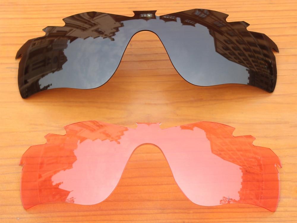 633522211c630 Preto   Rosa De Cristal 2 Peças de Substituição de Lentes Para Caminho  RadarLock Ventilado Óculos De Sol Quadro 100% UVA   Uvb