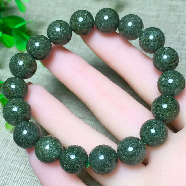 Natural Green Phantom Quartz Bracelet 11-12mm Beads Jewelry Accessories Crystal Bracelets for Men Women Jade Bracelet