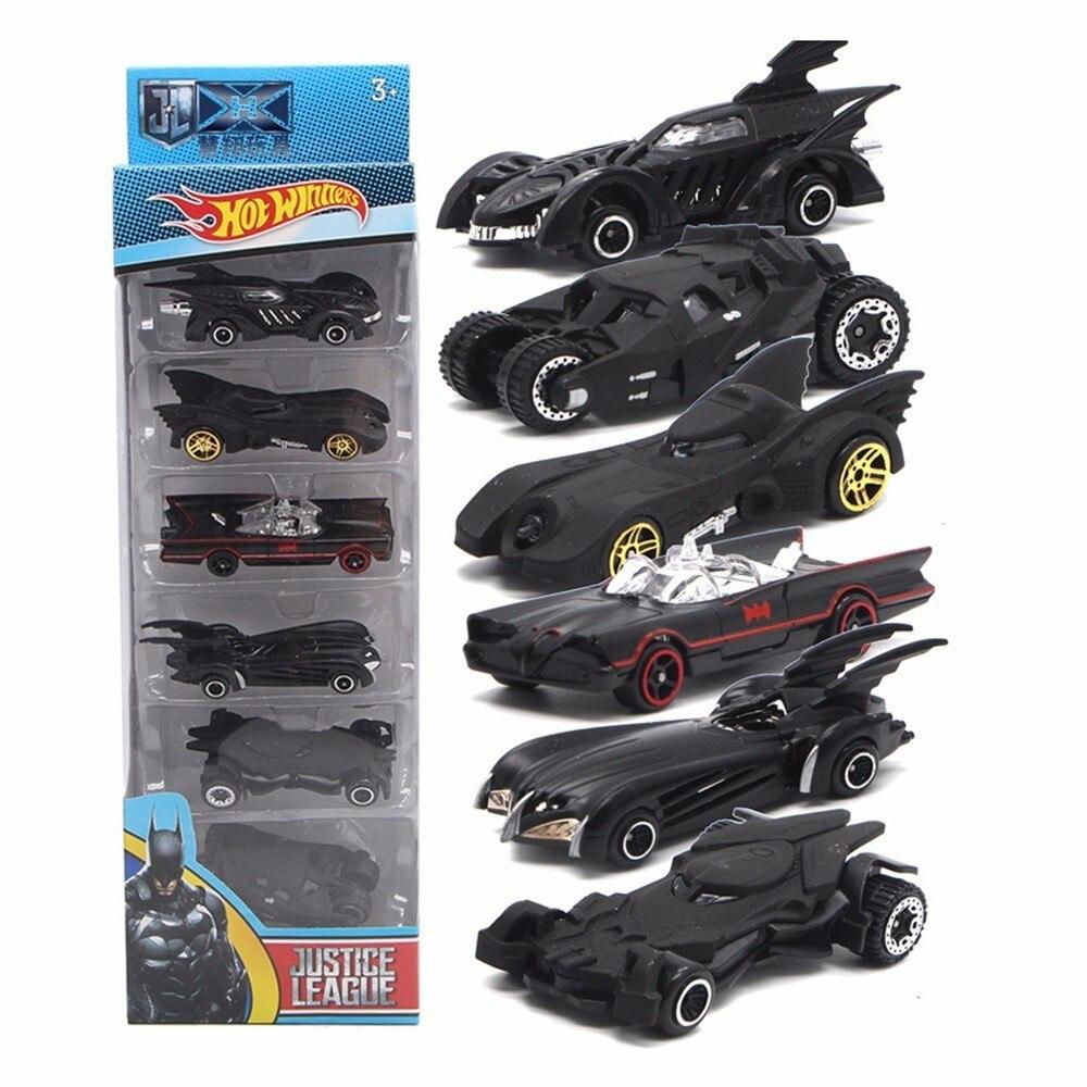 Toy Car Batman Car 1:64 6 Pcs/Set Bat Chariot Set Alloy Car Models Toy Generation Bat Chariot Metal Car Suit For Children Gifts
