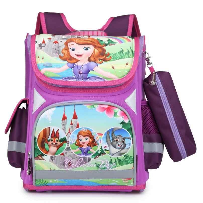 New School Bag Orthopedic Girls Princess Children School Bags Sofia the  First SpiderMan School Backpack Mochila 3000a3dad02b2