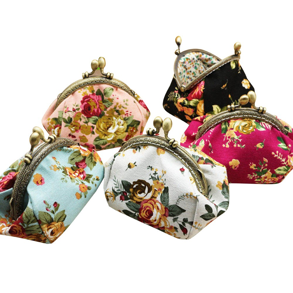 Superior Quality Women Lady Retro Vintage Flower Small Wallet Hasp Purse Clutch Bag Star with the paragraph dropship B# 3.28