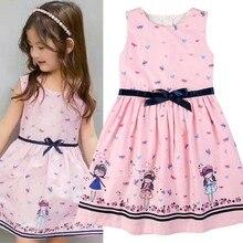 Summer Girls Toddler Kids Baby Dress Cartoon Sleeveless Lovely Dresses