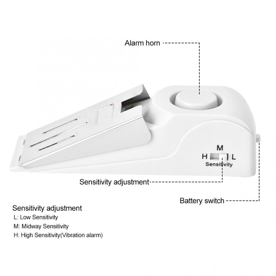 Portable Security Home Wedge Shaped Door Stop Block Alarm Blocking Stopper 120dB Door Stop Intruder Alert in Door Stops from Home Improvement