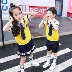 639fb4aeb Colores de algodón de los niños coreanos estudiante japonés uniformes de la  escuela de niñas y