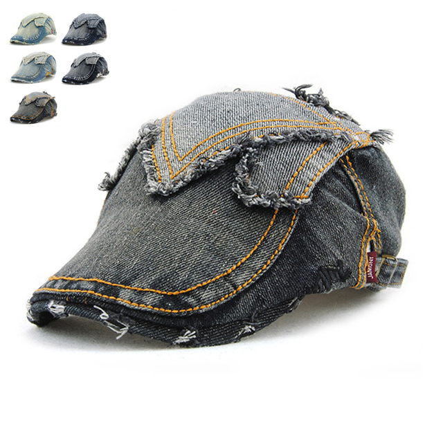 Nova Primavera Verão Cowboy Boinas Caps Para Homens Esportes Ao Ar Livre  Ocasional Pico Chapéus Das 4dfb8b24fb7