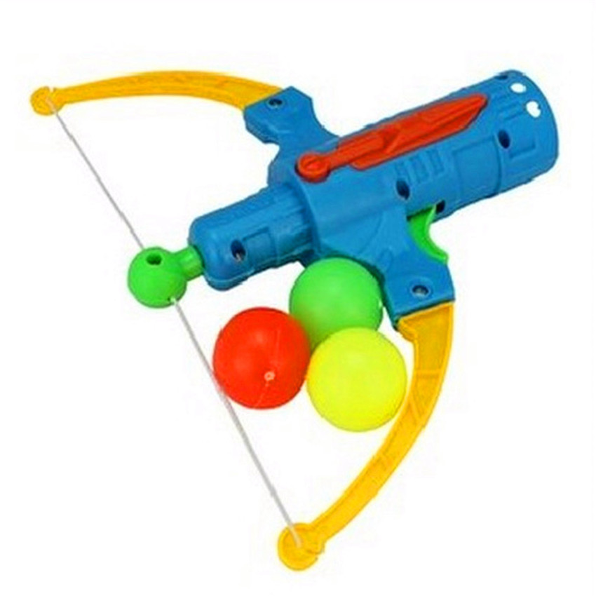 Arrow Table Tennis Gun Bow Archery Plastic Ball Flying Disk Shooting Toy Outdoor Sports Children Gift Slingshot Hunting Boy Toy(China)