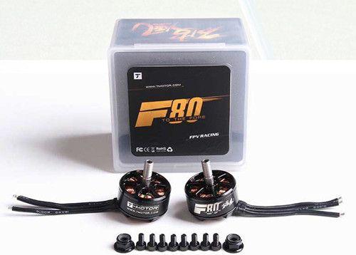 T-Motor F80 2408 2500KV Brushless Motor 2-6S For 220 250 FPV Racing Frame