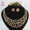 Beads africanos conjunto de jóias declaração Collar colar brincos pulseira anéis finos para mulheres de cristal do Vintage acessórios do partido