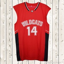 2cad3d545 EJ Zac Efron 14 Troy Bolton East High School Wildcats Stitched Basketball  Jersey
