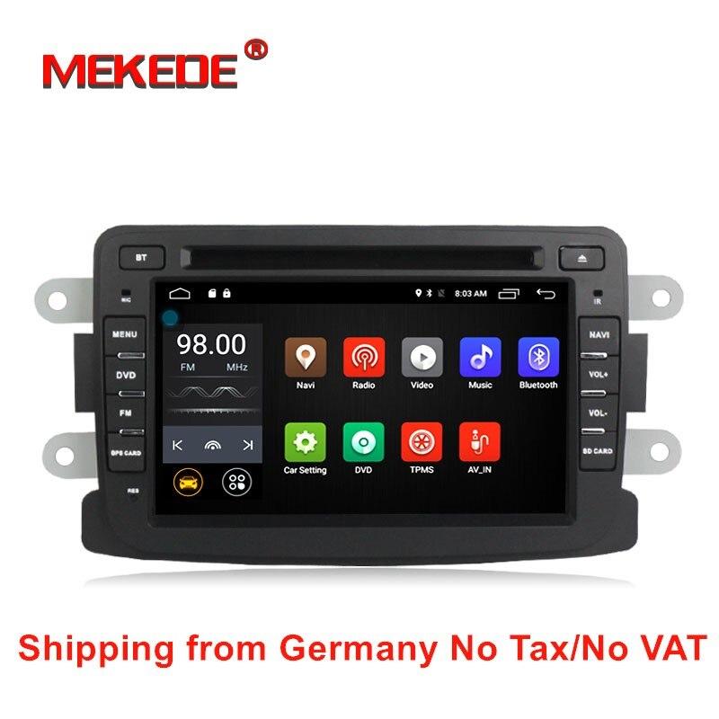 Livraison gratuite Quad Core Android 7.1 4g lte GPS Navigation Pour Dacia Renault Duster Logan Sandero Lada/Xray voiture radio stéréo