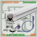 4pcs/lot  Dimmable T8 integrated tube 4ft 1200mm milky  clear cover available 20W surface mounted lamp comes with accesory