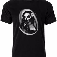 2e98007ed Dias de los Muertos Gothic Tattoo Style Mens t-Shirt Tee Shirt Top AK20(