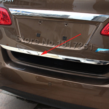 For 2016 Nissan Sentra Door Sticker Stainless Steel back door Tailgate trim Car Styling Accessories