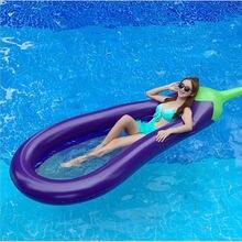 Хит продаж экологически безопасный ПВХ надувной баклажан плавающая