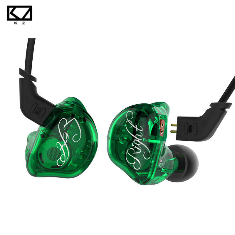 New KZ ZSR 2BA+DD Unit Hybrid In-Ear Earphone Subwoofer Stereo Sport Headset Noise Cancelling HIFI Detachable Earbuds with mic new kz zs3 in ear headphones stereo headset ear hook running sport earphone noise cancelling earbuds headphones with microphone