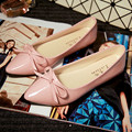 ballerina wedding shoes women sweet candy ballet pointy PU leather shoes girls summer spring flat shoes butterfly bowknot