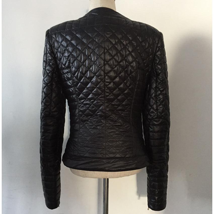 คุณภาพสูงใหม่ล่าสุดแฟชั่น 2019 ออกแบบแจ็คเก็ตผู้หญิงปุ่มโลหะสิงโต Zippers Embellished ตารางผ้าฝ้ายเบาะ-ใน แจ็กเก็ตแบบเบสิก จาก เสื้อผ้าสตรี บน   3