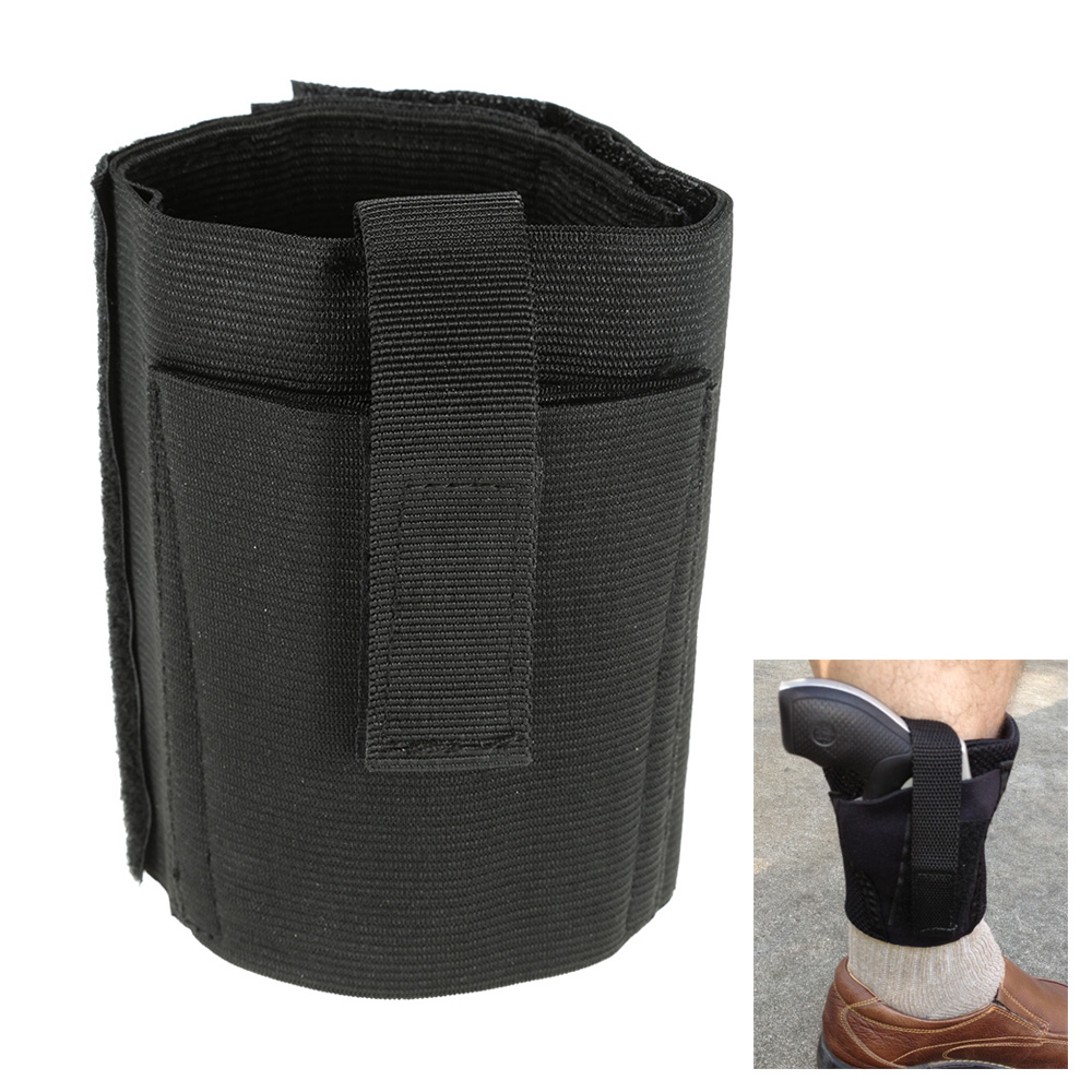 Small Pistol Basic Design Leather Cushion Invisible Ankle Boots Belt Waist Ankle Gun Gun Holster Black Hunting Bag Belt Tactics