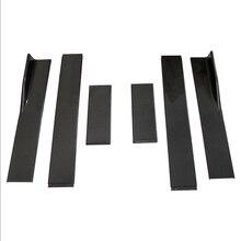 2m saias laterais do carro universal pára choques extensões preto/fibra de carbono estilo carro pára choques lado suporte extensões para bmw benz ford focus