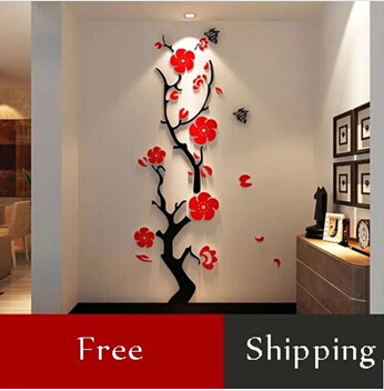 Fashion Single Piece Package 3D Flowers Wall Stickers Home Decor .