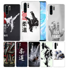 Judo Taekwondo Case for Huawei P20 P30 P Smart 2019 Nova 4 3i P10 P9 P8 Mate 10 20 lite Pro Mini 2017 Hard PC Phone Cover Coque(China)