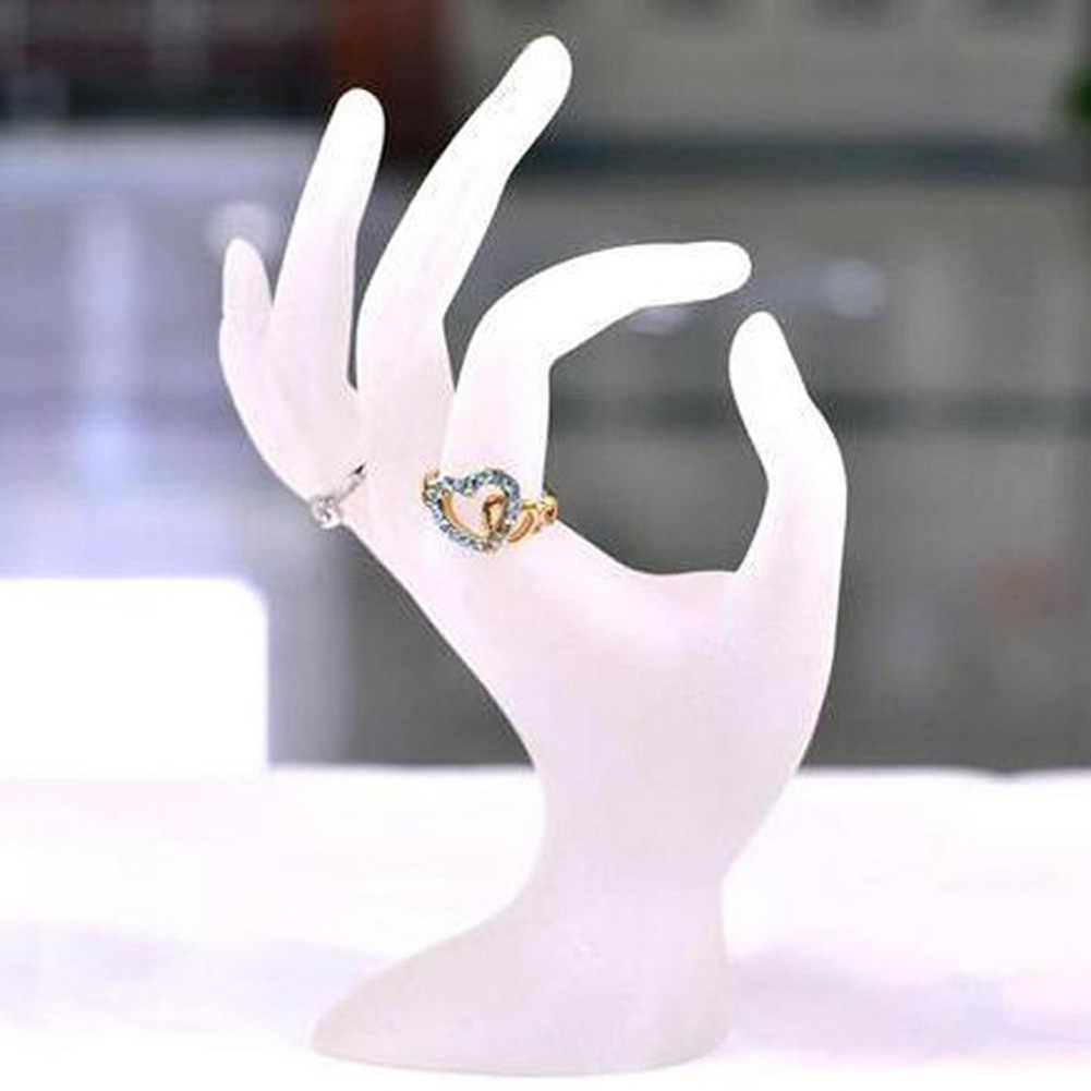 Relógio Pulseira Anel Jóias Display Stand Titular OK Mão Manequim Prop Decor New Titular organizador de jóias caixa de embalagem do anel Quente para mulheres bonitas jóias Acessórios presente organizador de jóias