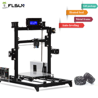 Shipping from USA Flsun3D 3D Printer Auto leveling i3 3D Printer Kit Heated Bed Two Rolls Filament SD Card Gift no taxes