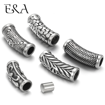 2Clasps 316L Stainless Steel Magnetic Clasps Hole 6mm for Leather Cord Clasp Bracelet Magnet Buckle DIY Jewelry Making Supplies stainless steel magnetic clasp hole 6mm leather cord clasps magnet buckle diy bracelet closure supplies jewelry making findings