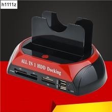 ВСЕ В ОДНОМ HDD док-станция с устройство для чтения карт памяти слот для HDD корпус 2,5/3,5 дюйма SATA/кабель для жесткого диска док-станция
