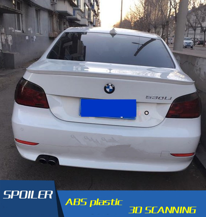 For BMW E60 Spoiler ABS Material Car Rear Wing Primer