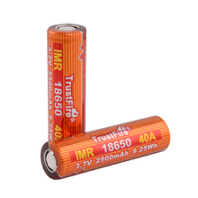 8pcs/lot TrustFire IMR 18650 2500mAh 3.7V 40A 9.25Wh High-Rate Rechargeable Lithium Batteries for E-cigarette/LED Flashlights