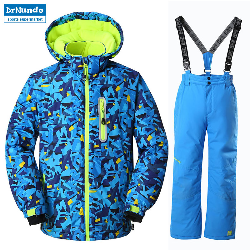 big discount of 2019 good texture modern techniques Boys Ski Jackets Suits kids Snowboard Jackets Suit Winter ...
