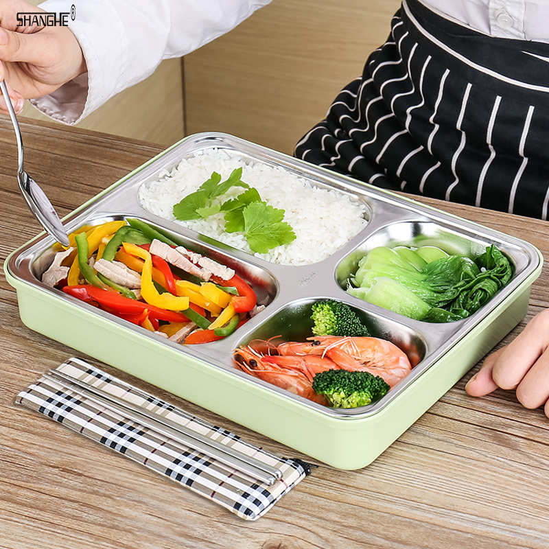 A Kitchen Is Launching An Express Lunch Service: SHANGHE Kitchen 304 Stainless Steel Japanese Lunch Boxs