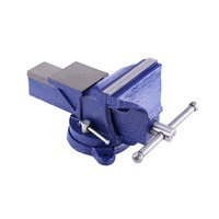 5Heavy Duty Engineers Bench Vice Swivel Base Clamp Jaw Work Bench Top Quality
