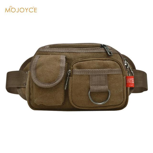 2016 Vintage Men Waist bags Canvas Waist Pack  Men Belt Waist Bag Male Casual Fanny Pack Travel Army Waist Pack