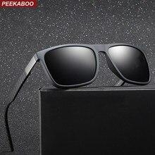 8ba3e4ceaab40 Peekaboo TAC1.1 preto fosco óculos de sol dos homens polarizados tr90 uv400  óculos de sol quadrados para homens 2019 presente ma.