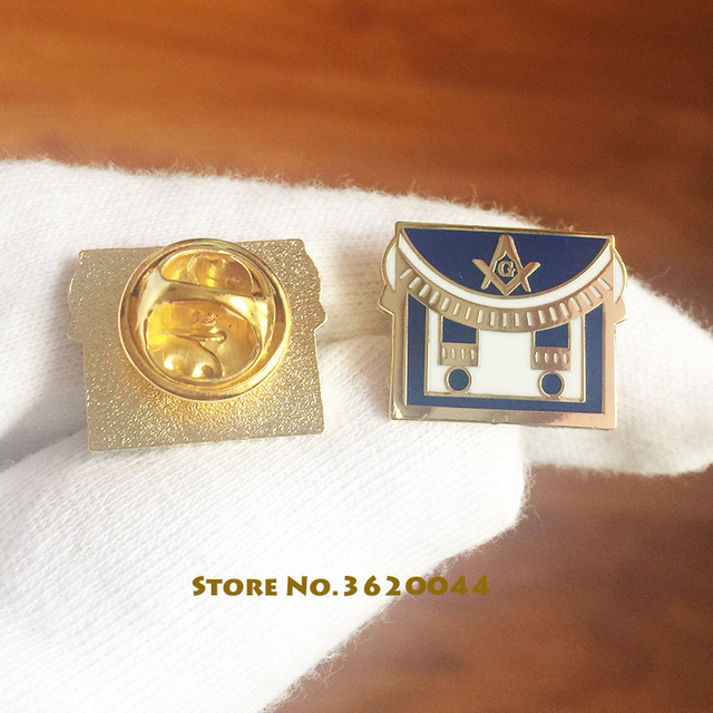 US $49 0 |50pcs Mason Freemason Square and Compass Apron Lapel Pins Masonic  Custom Enamel Pin Masons Brooch Badge Metal Craft Blue Lodge-in Pins &