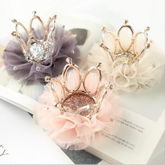 Pet Cats  Dog Hair Clips Mesh Head Flower Stereo Crown Hairpin Dog Cat General Headwear Grooming Accessories